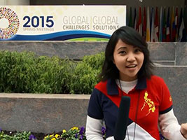 Pabsy Pabalan Pinay reporter at the World Bank