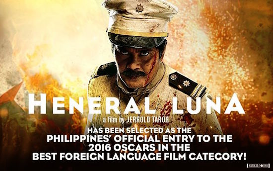 'Heneral Luna' is the Philippines bet at the Oscars