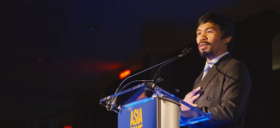 Manny Pacquiao named 2015 Asia Game Changer of the Year