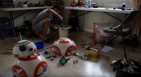 Filipino student creates DIY Star Wars BB-8 Droid