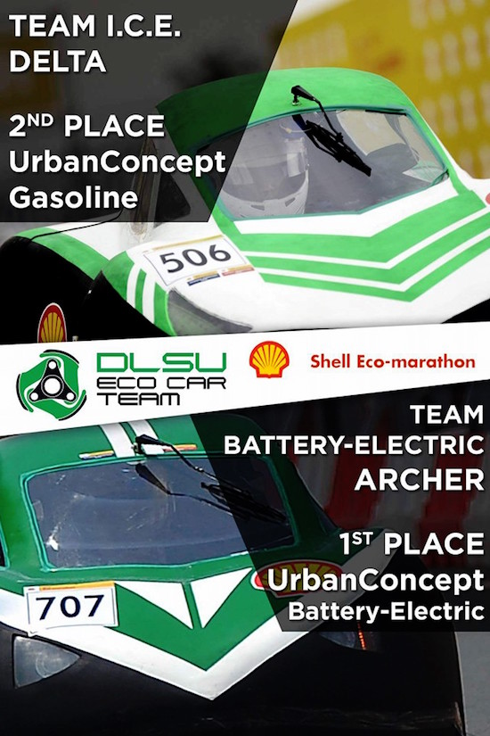 DLSU Eco car teams