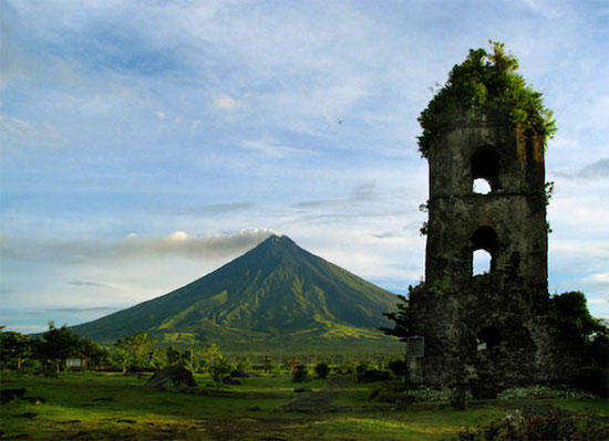 Mayon Volcano and Cagsawa Ruins
