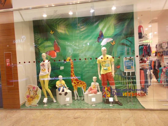 SELA store window display