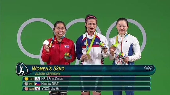 Hidilyn Diaz wins Silver in Rio Olympics, 1st since 1996