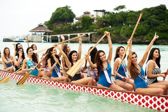 Miss Universe contestants in Boracay
