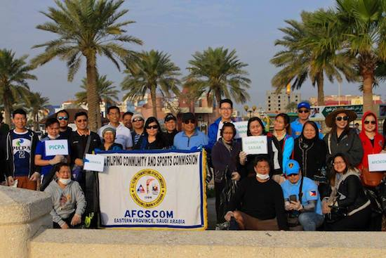 Pinoy lead massive coastal cleanup in Al- Khobar