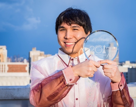 Wesley So after winning the 2017 US Championship