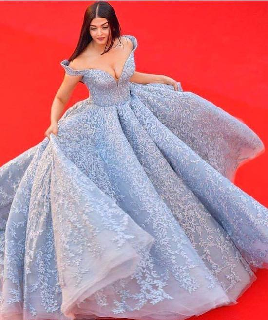Aishwarya Rai Bachchan wearing Michael Cinco's creation