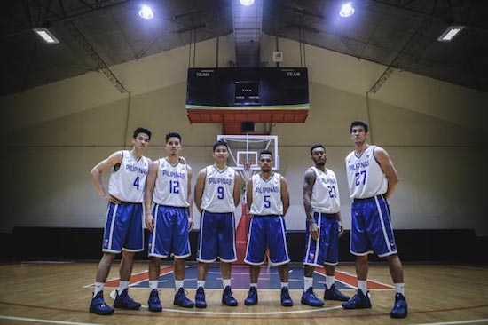 Gilas Pilipinas with the Lebron 14 Agimat