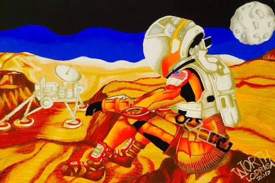 Worth Lodriga bags 1st place in Student Mars Art in Colorado