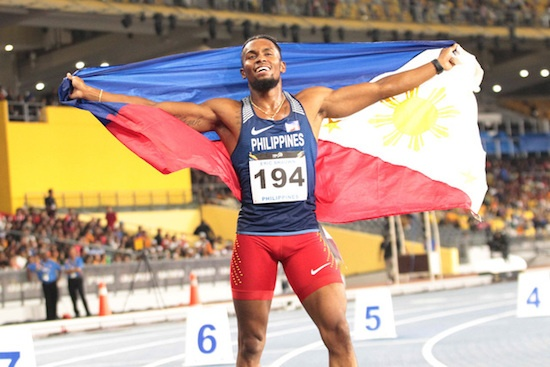 Eric Cray, wins the 400-m SEA Games gold medal