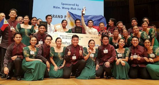 UPLB Choral Ensemble bags Grand Prix in Singapore