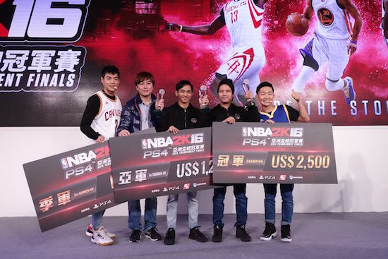 NBA 2K16 champs Taipei Game Show