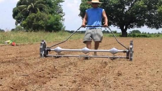 UP student invents quick corn planter