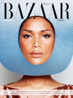 Geena Rocero featured on Harper's Bazaar magazine cover
