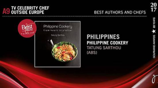Chef Tatung is Best Celebrity Chef Outside Europe