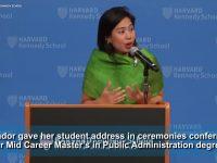 Clare Amador is first Filipino to address fellow Harvard Kennedy School graduates