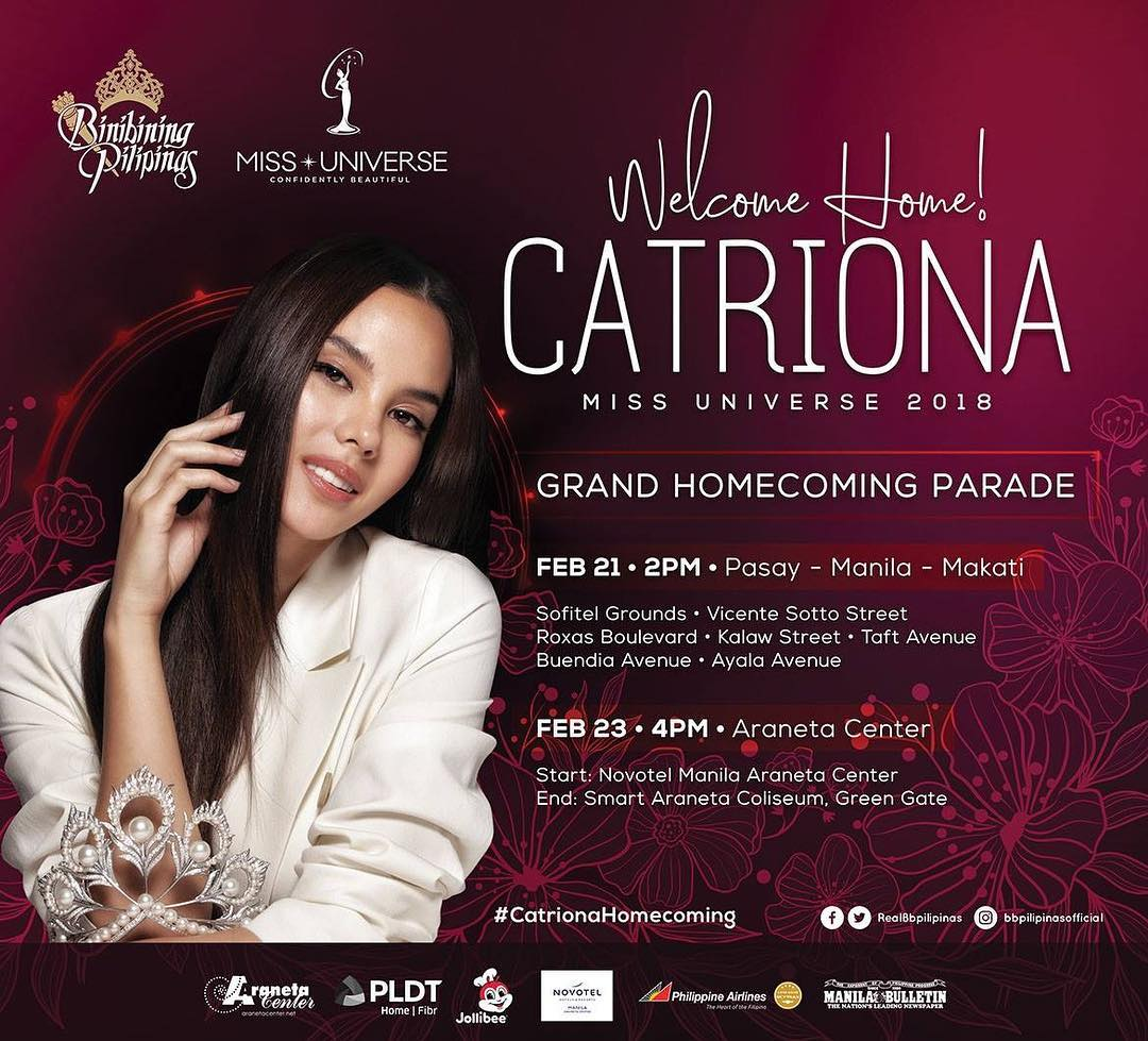 Philippines to welcome Miss Universe Catriona Gray with festivities