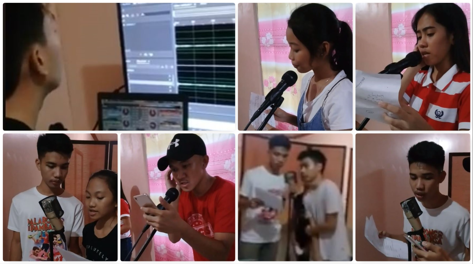 Samar high school broadcasters rehearsal Facebook video