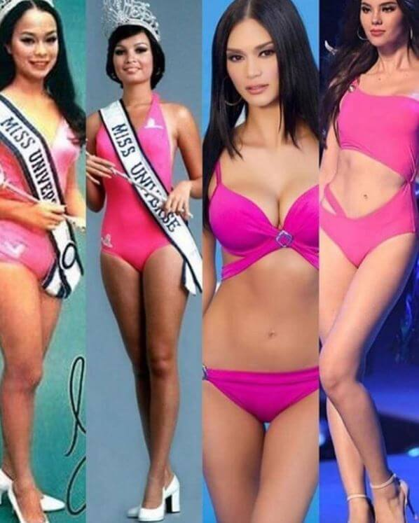 Filipina beauty queens Gloria Diaz, Marige Moran, Pia Wurtzbach, Catriona Gray