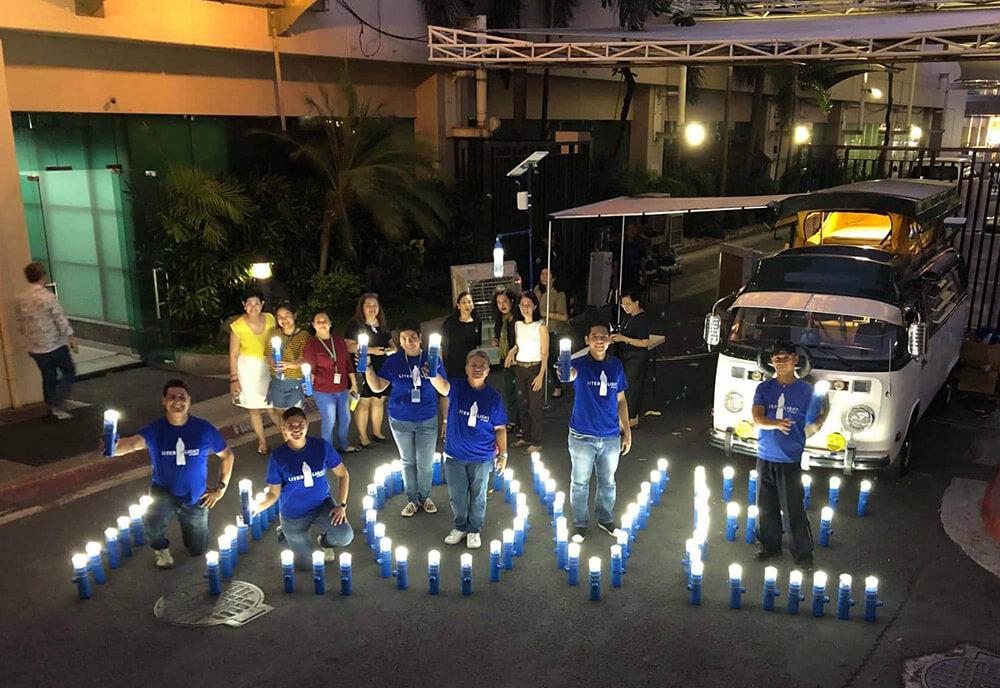 ABS CBN Liter of light solar lamps