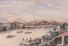 Charles Andrews Pasig River watercolor painting