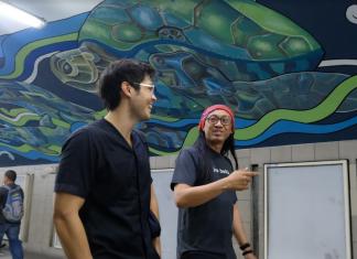 Paseo de Roxas underpass art