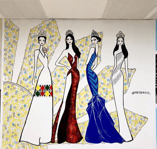 Filipina Miss Universe mural painting