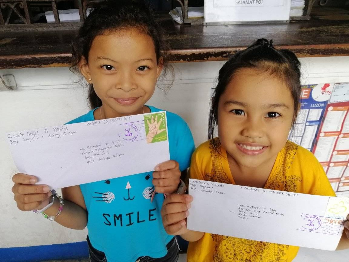 Filipino students thank you letters
