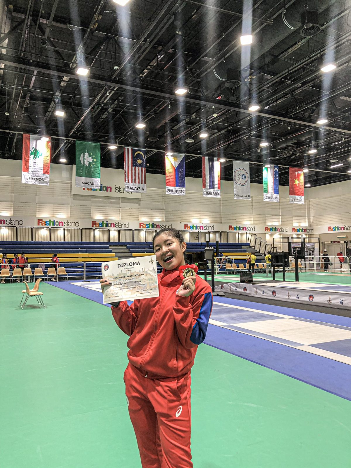 Samantha Asian Fencing Championship