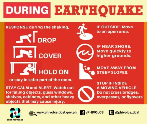 During Earthquake