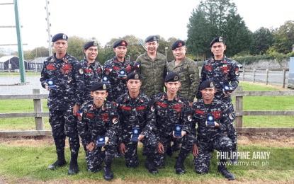 Filipino Rangers UK military patrol