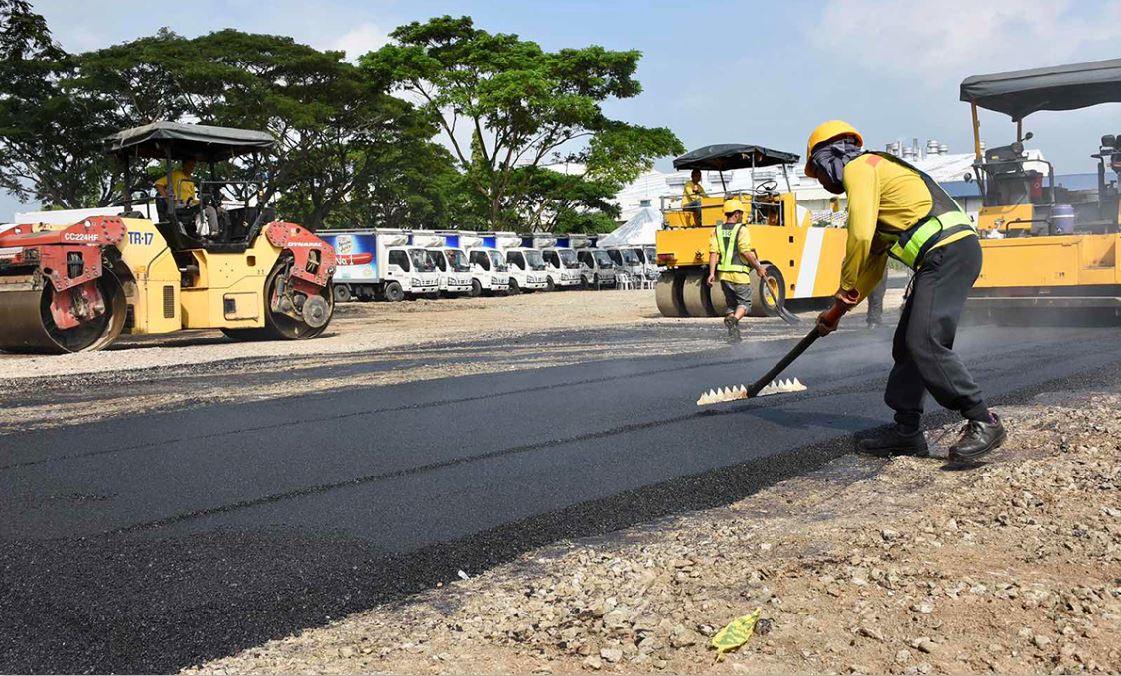 recycled plastics Philippine road