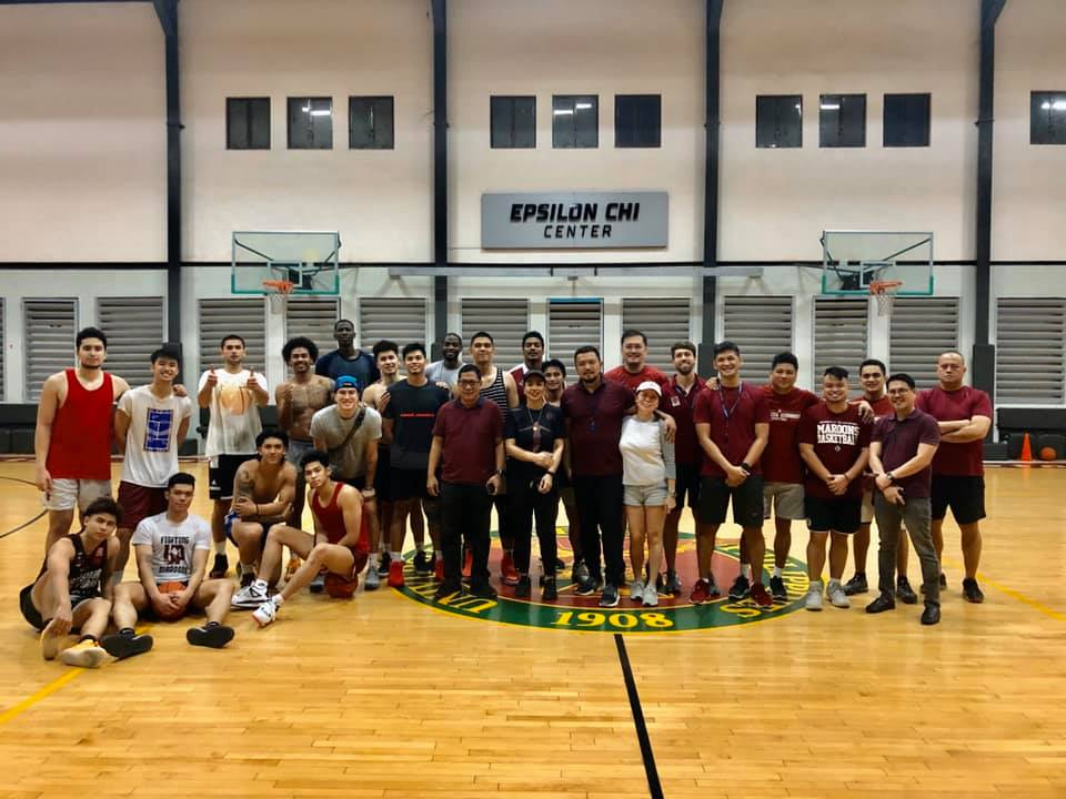 UP Fighting Maroons athletes Taal Volcano eruption