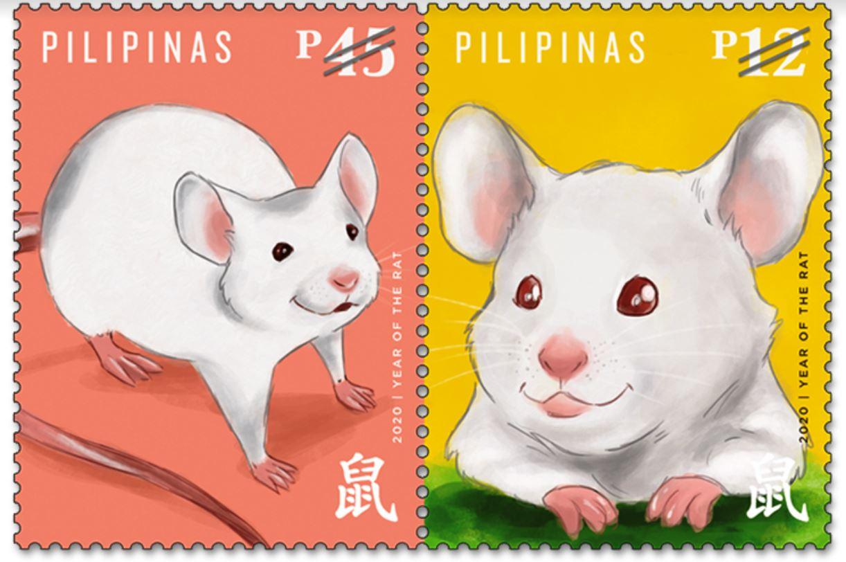 Philippine rat postal stamps