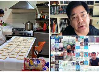 Filipino celebrities gave food to frontliners
