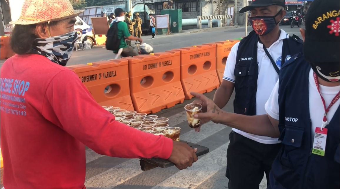 Mang Boyong Taho for checkpoint personnel