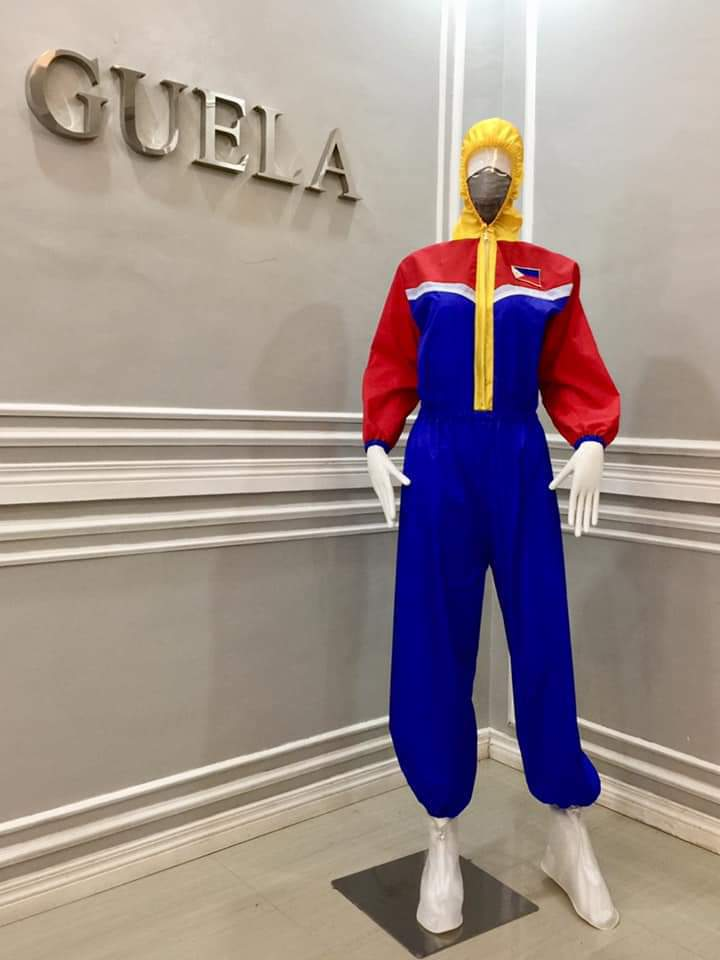 Guela Ampong Philippine flag-inspired PPE