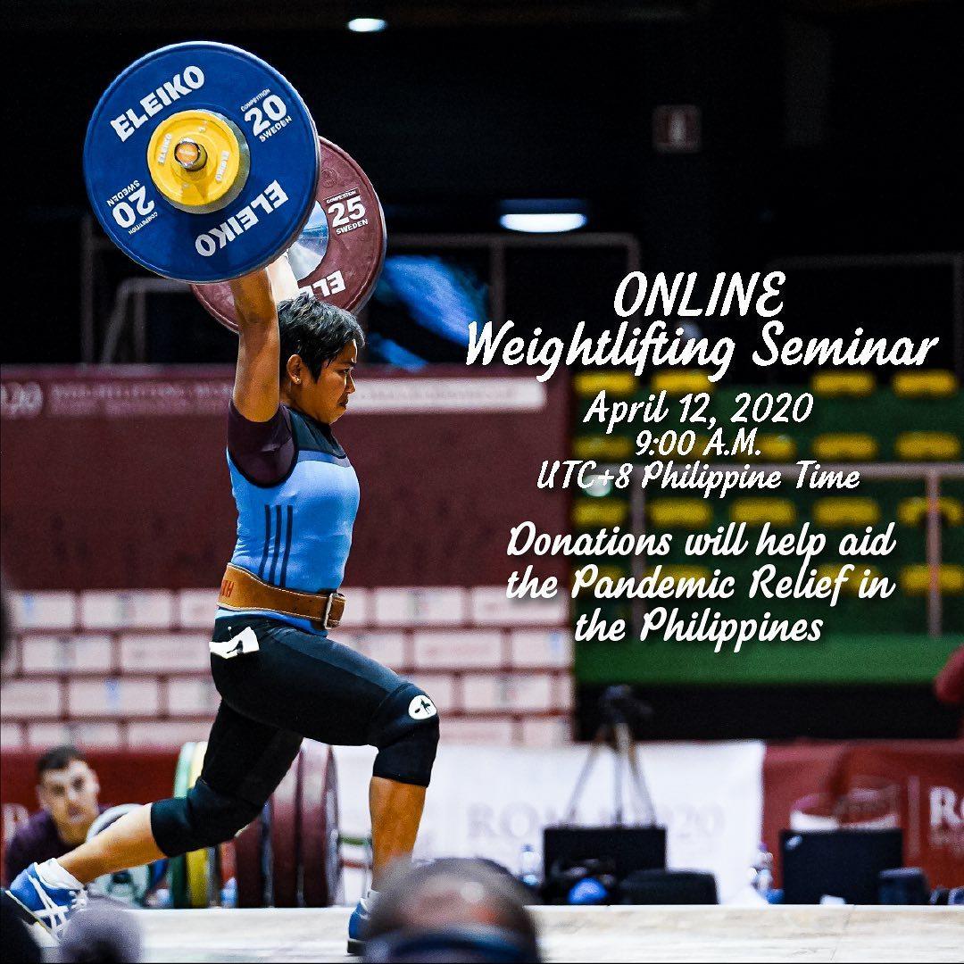 Hidilyn Diaz online weightlifting seminar