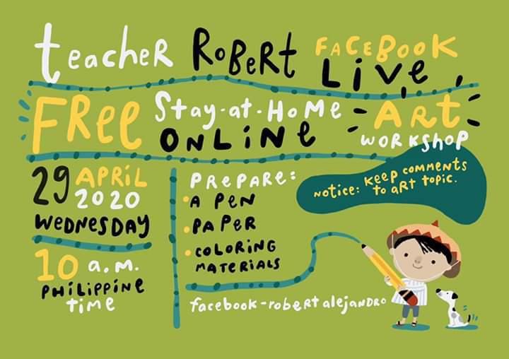 Robert Alejandro online art workshop