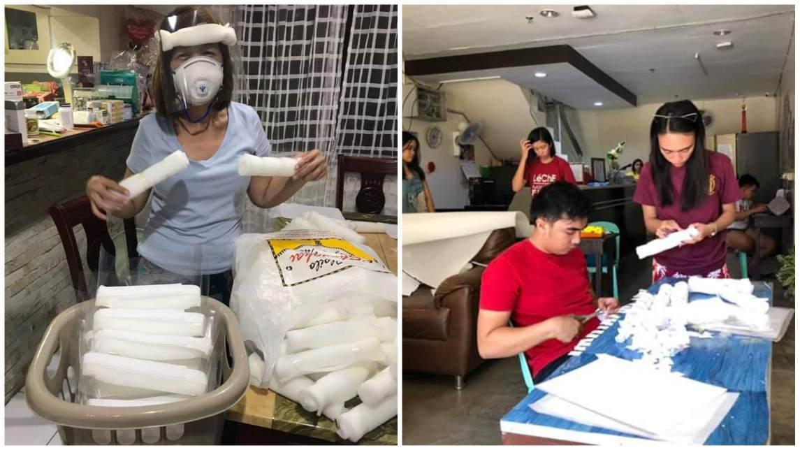 UP Visayas Students improvised face shields