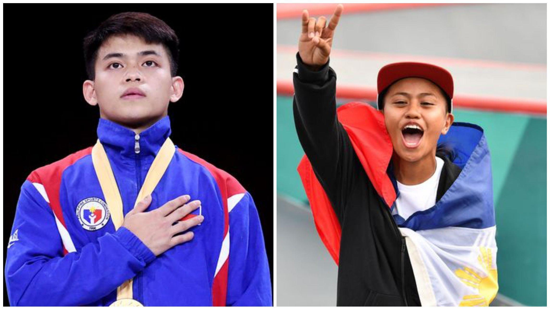 Champion athletes Carlos Edriel Yulo Margielyn Didal Forbes Asia