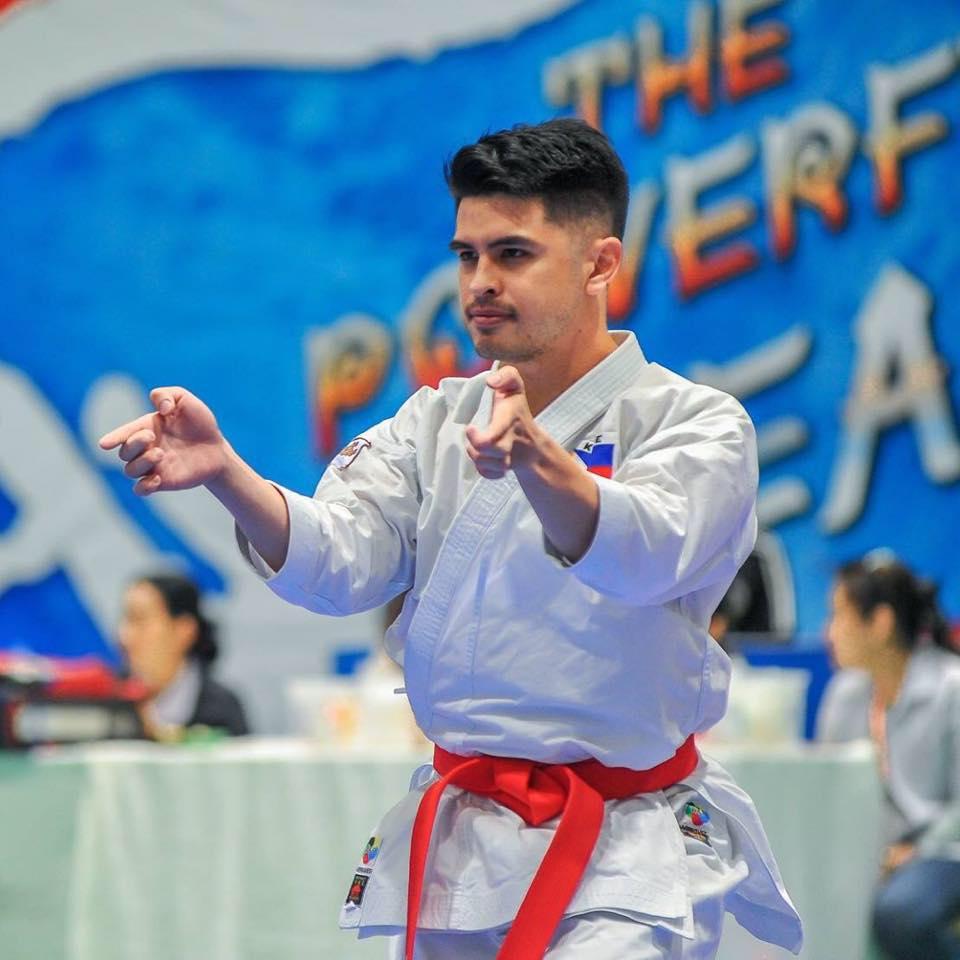 Filipino karate champion James De Los Santos
