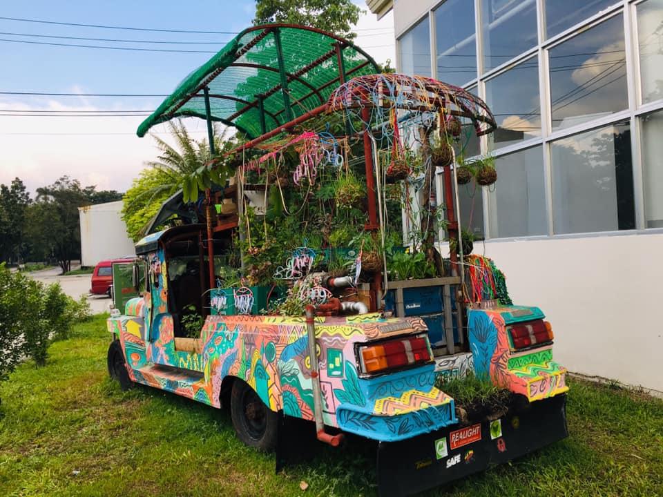 Eco-friendly Jeepney art
