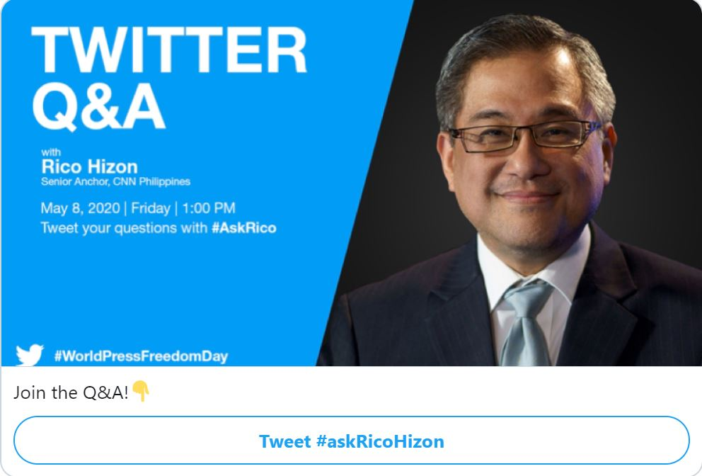 #AskRicoHizon World Press Freedom Day