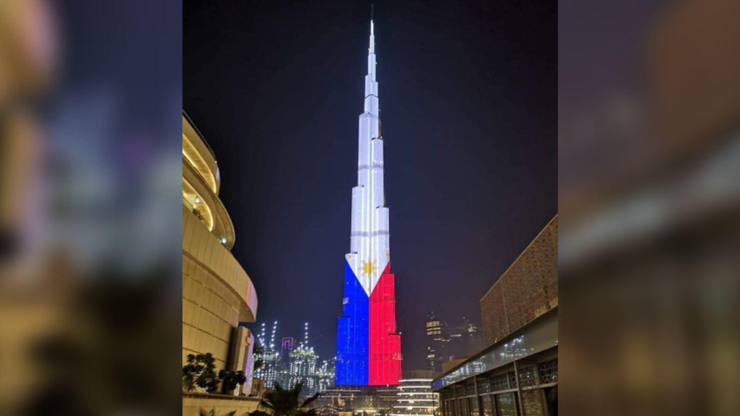 Burj Khalifa Philippine flag Independence Day
