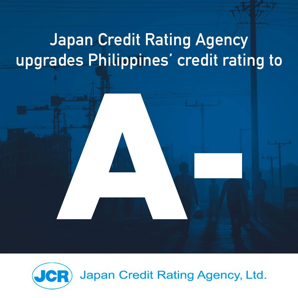 Philippines' A- credit rating from Japan