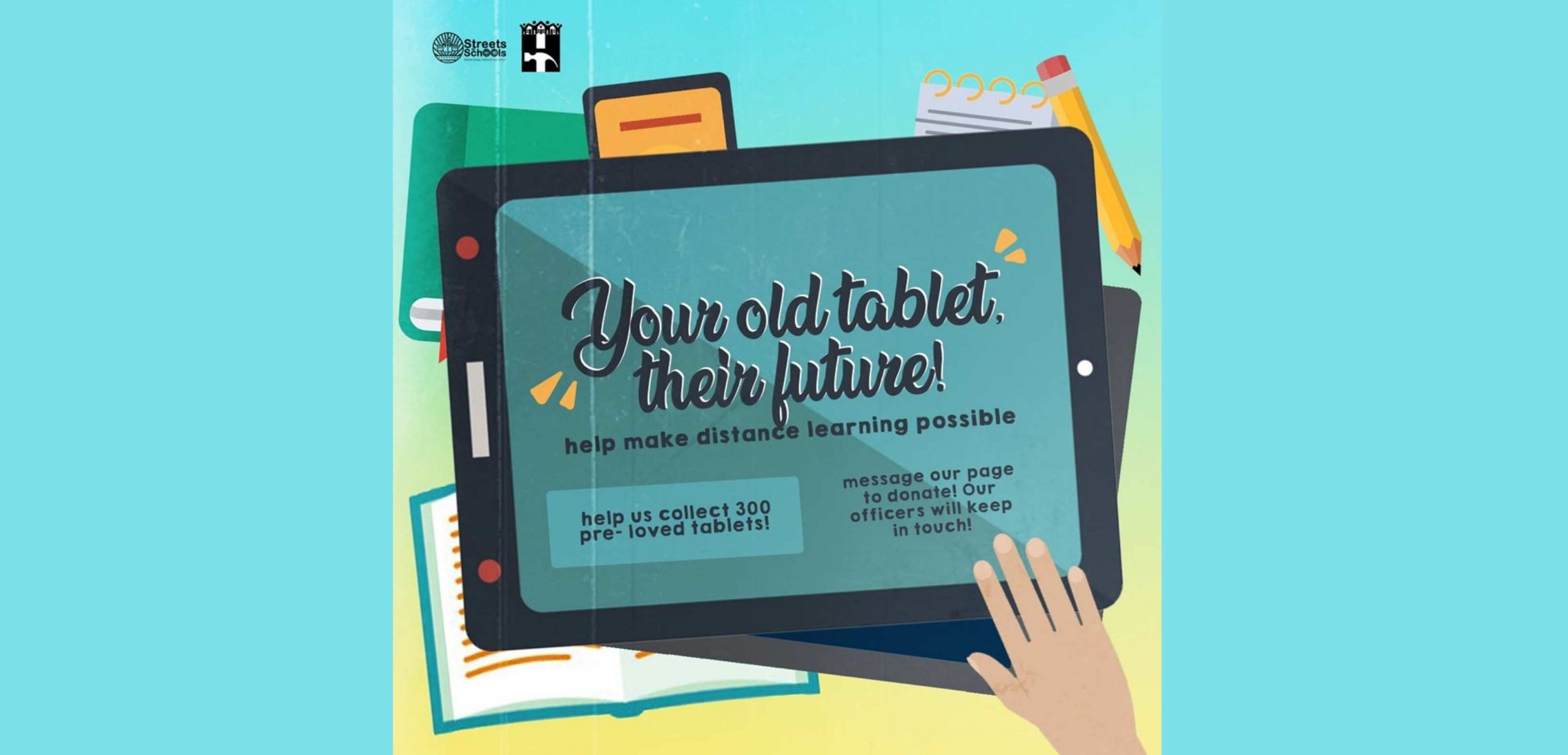 UST Streets to Schools donation drive for gadgets