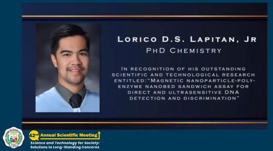 Lorico Lapitan 2020 NAST Young Talend Award