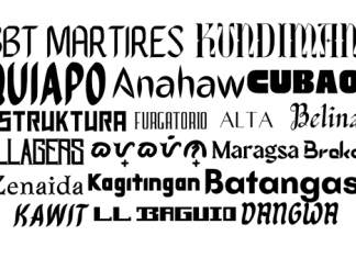 Filipino font in Canva
